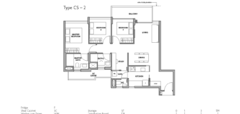 royal-green-floor-plan-3-bedroom-study-type-CS2-singapore