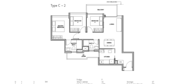 royal-green-floor-plan-3-bedroom-type-C2-singapore