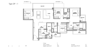 royal-green-floor-plan-4-bedroom-premium-type-DP1-singapore